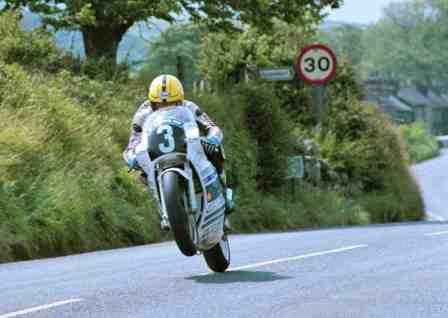 Joey Dunlop during the 1988 Junior TT